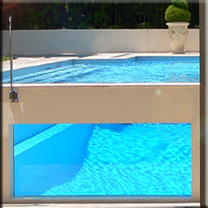glass pool wall