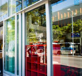 shop front glass sliding doors