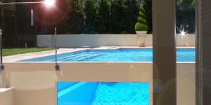 pool glass wall Ascot